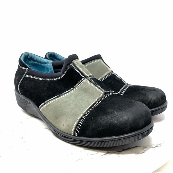 Gravity Defyer Comfort patchwork shoe 10 suede